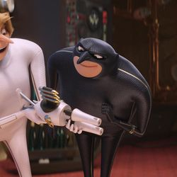 """Dru (Steve Carell), Gru (Steve Carell) and Lucy (Kristen Wiig) in """"Despicable Me 3."""""""