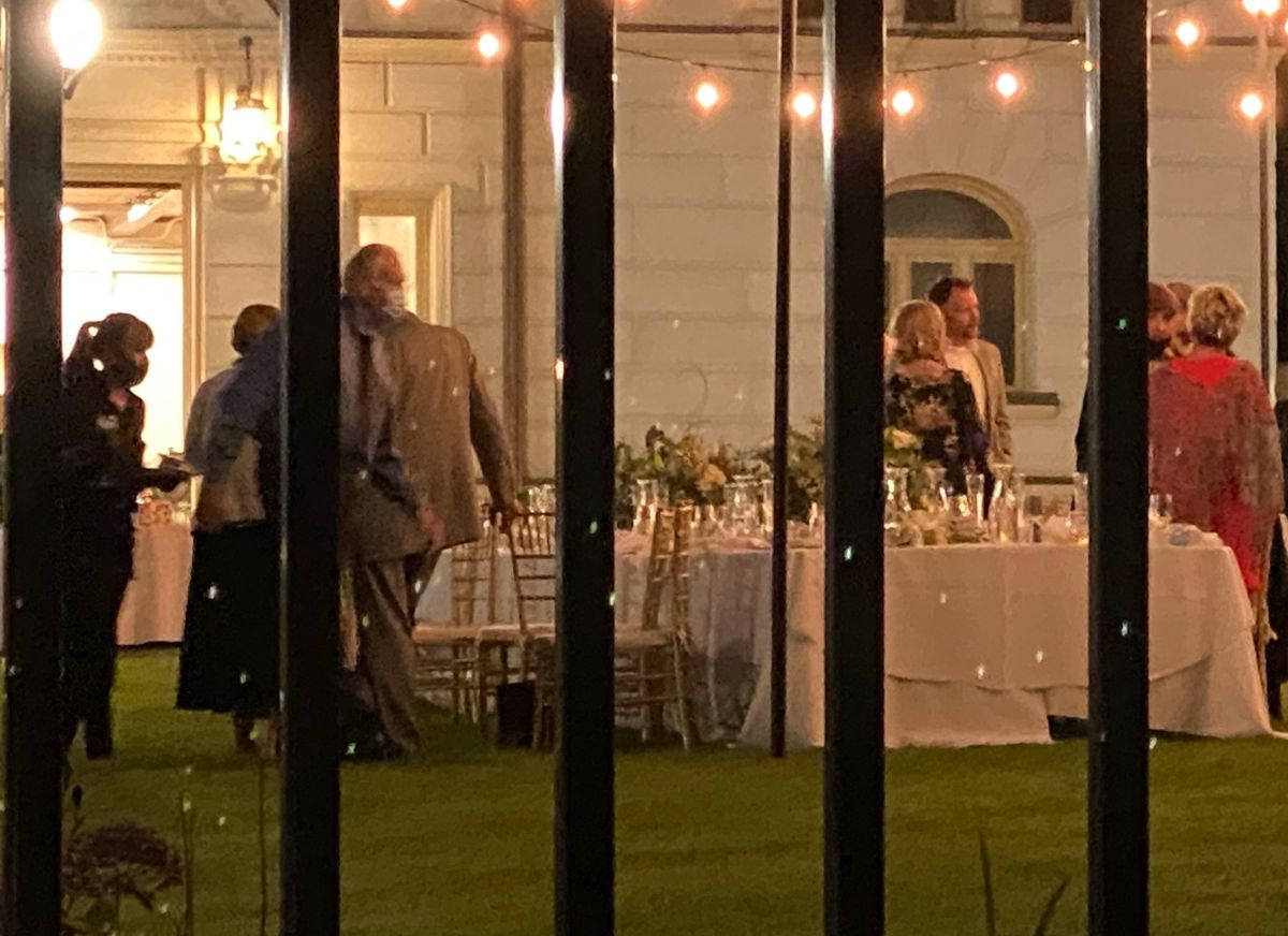A party on the lawn of the governor's mansion Wednesday evening, July 22, 2020.