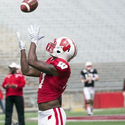 Receiver Jazz Peavy hauls in a catch