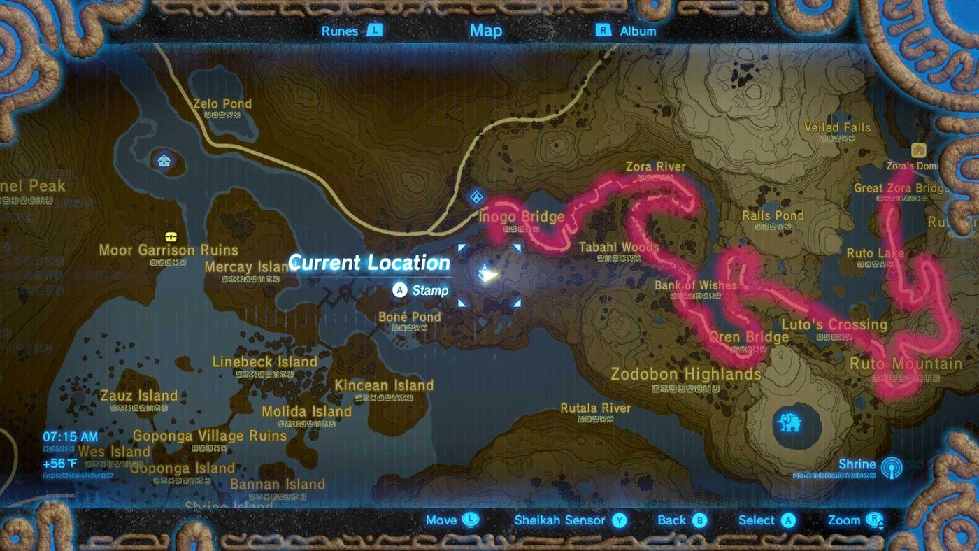 Breath Of The Wild Guide Reach Zora S Domain Main Quest Walkthrough