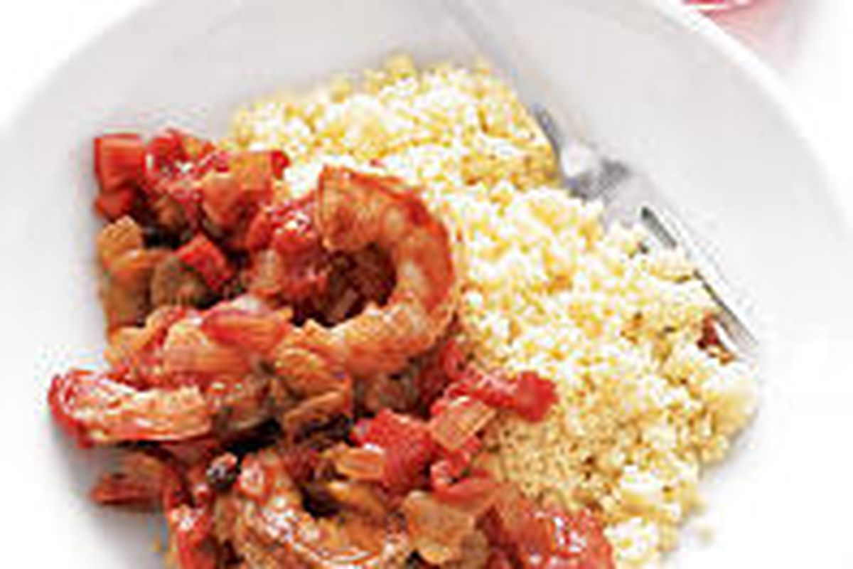 Moroccan Shrimp can be prepared in about 25 minutes.