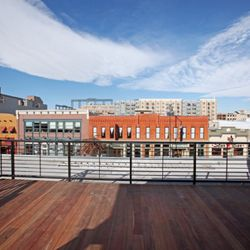 The view from the Ignite! rooftop, which will be complete in February.
