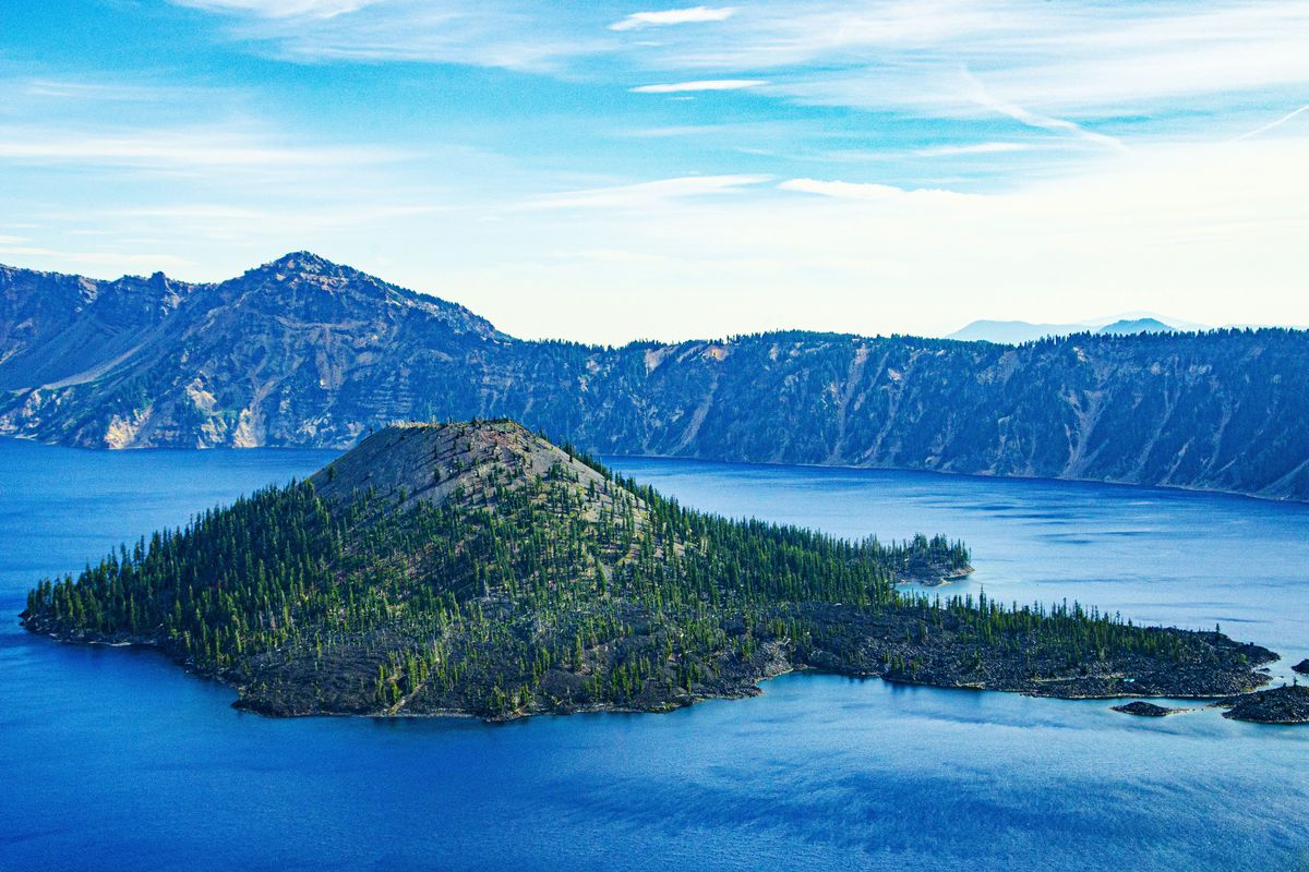Oregon, Crater Lake National Park, Wizard Island, Crater Lake