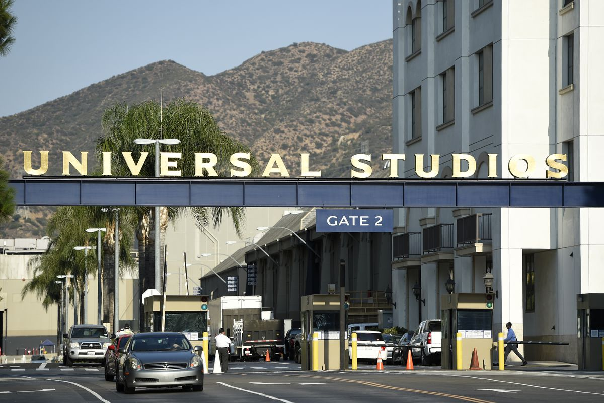 """FILE - In this Aug. 23, 2016 file photo, the entrance to the Universal Studios lot is pictured in Universal City, Calif. Universal Pictures has canceled the planned September 2019 release of its controversial social thriller """"The Hunt"""" in the wake of rece"""