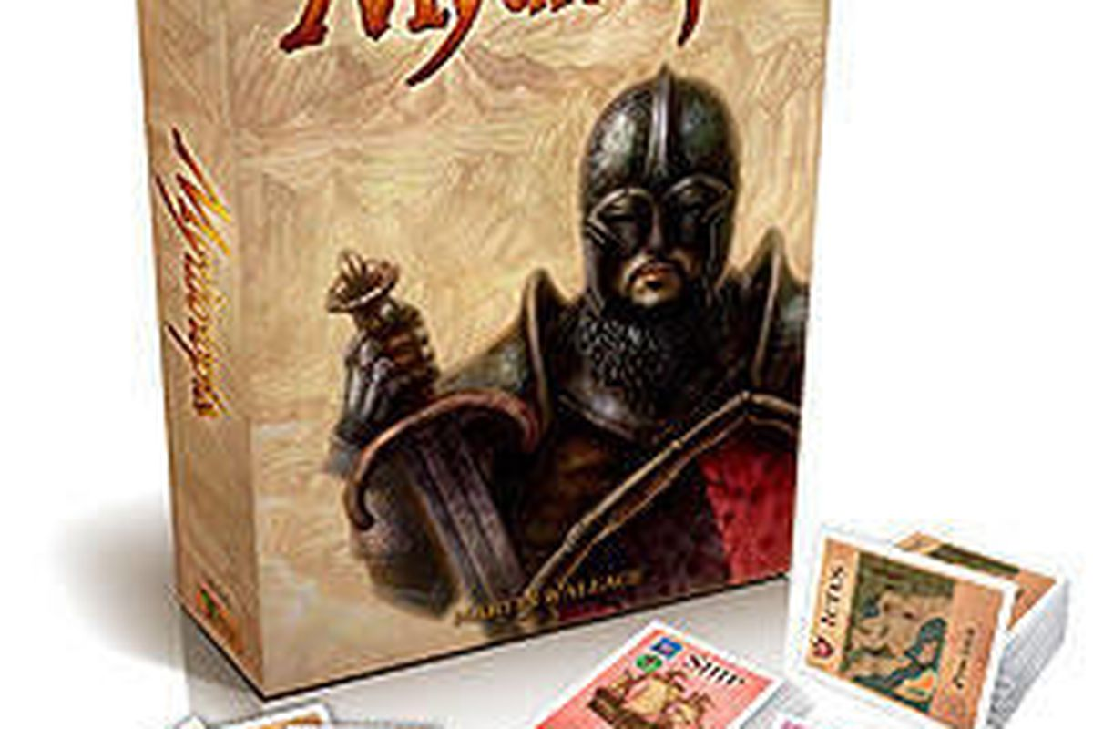 Mythotopia is a medieval fantasy game of strategy warfare. Even though the game is played on a giant map, deck construction is at the center of the game's play mechanic.
