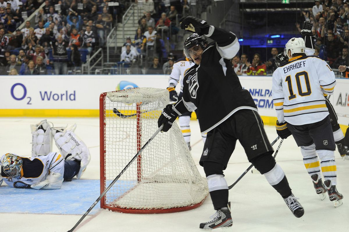 Oh the hills are alive with the sound of Kopitar/this shit's been around for a very long time.   (Photo by Stuart Franklin/Bongarts/Getty Images)