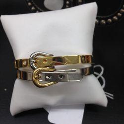 Metal bracelets, $40 each