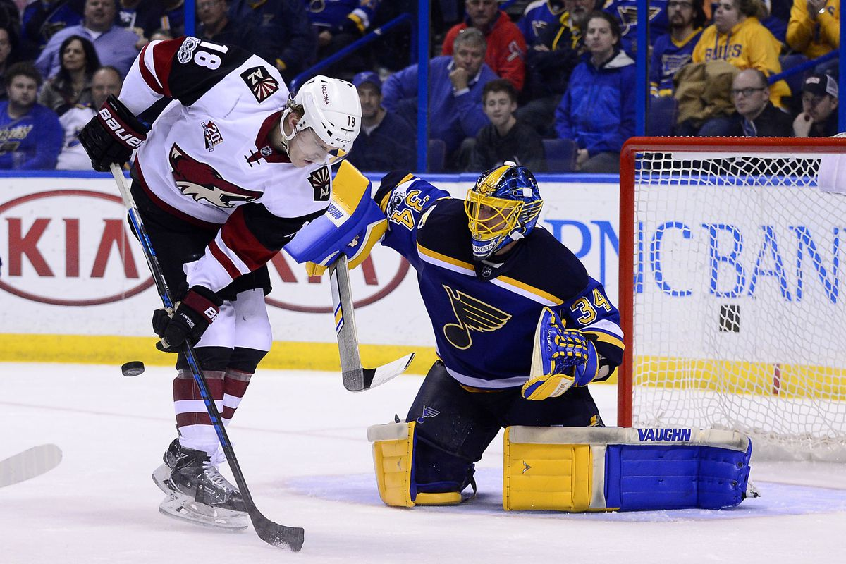 Coyotes blues meet in st louis five for howling jeff curry usa today sports m4hsunfo