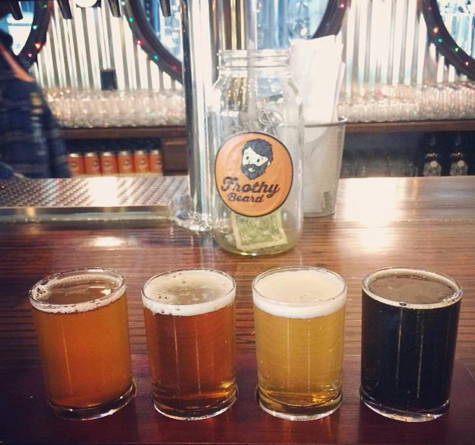Four beers of varying colors