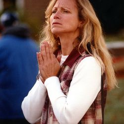 Kimberly Schneider waits for word about her daughter, Tiffany, after Metra train No. 624 crashed into a school bus at Algonquin Road and Northwest Highway in Fox River Grove on Oct. 25, 1995.
