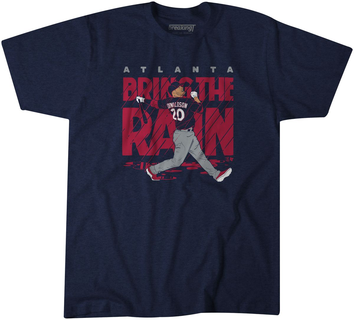 """Get your Josh Donaldson """"Bring The Rain"""" T-Shirt from Breaking T"""