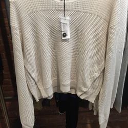 Proenza Schouler cropped panel pullover, size large, $145.50 (from $485)