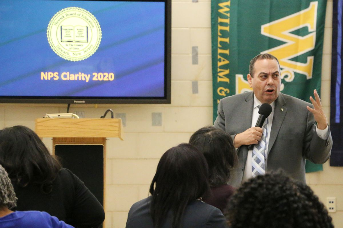 Superintendent Roger León hosted an event in January 2019 to gather ideas for his strategic plan.