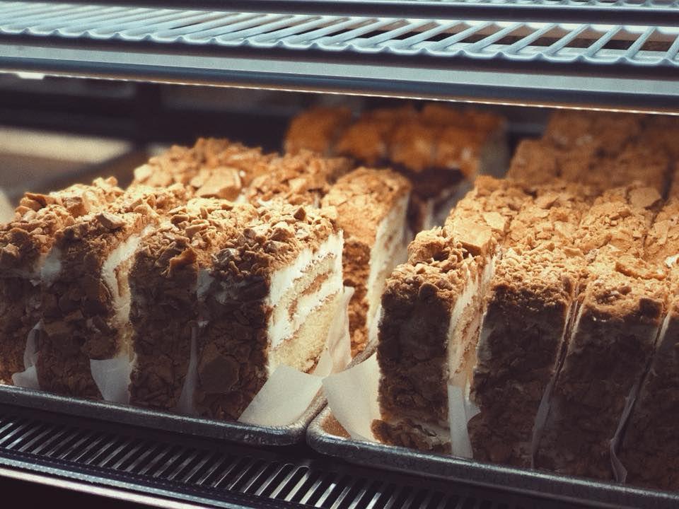 Coffee crunch cake at Yasukochi's Sweet Stop