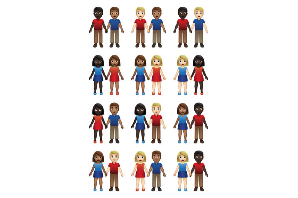 Emoji couples might come in 55 gender and skin tone