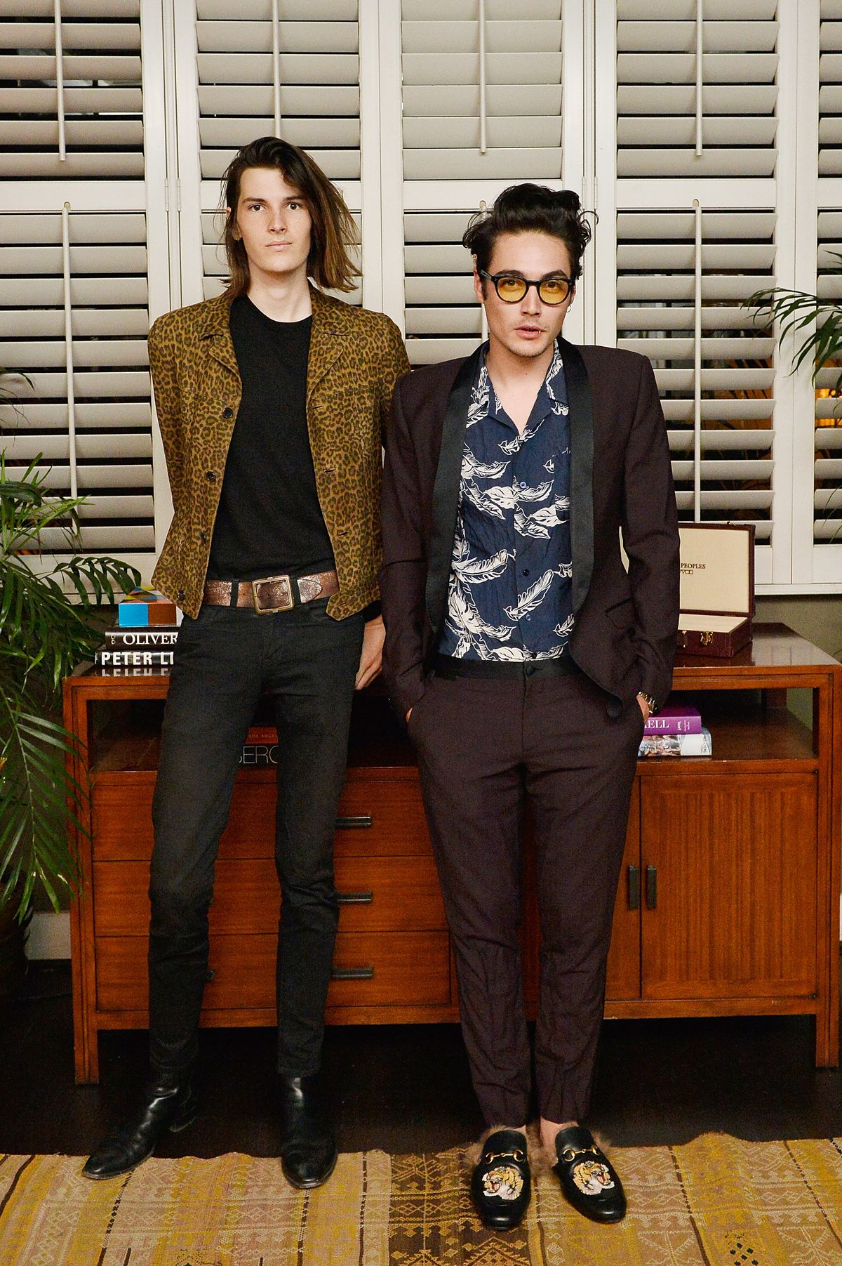 e520b3a6f46833 Dylan Brosnan and Levi Dylan at an Oliver Peoples event.