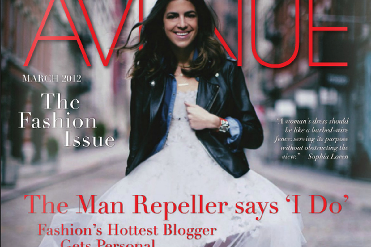 Man Repeller Blogger Leandra Medine talks to Avenue magazine about her upcoming wedding plans