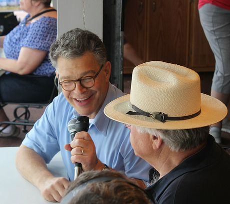Al Franken interviewed on a radio show at the Minnesota State Fair in August 2014