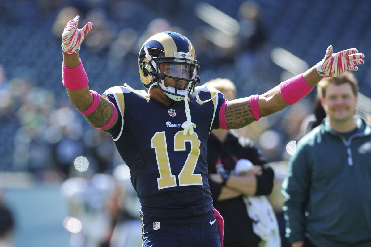 aa6508278 Former Rams WR Stedman Bailey participates in NFL pro day 2 years after  being shot