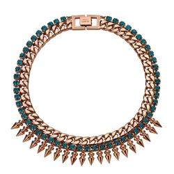 <b>Mawi</b> Spike necklace with blue crystals, $740