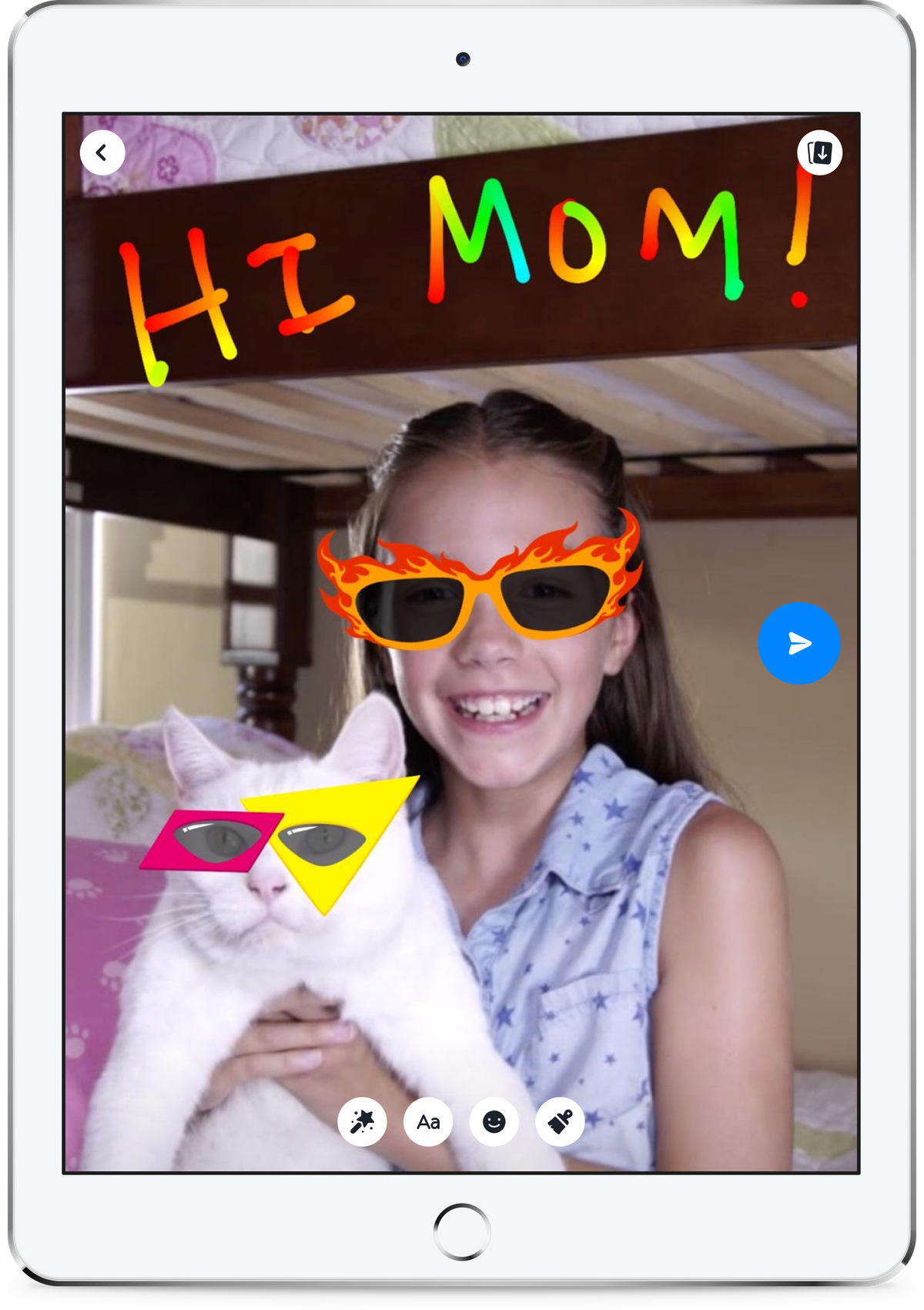Facebook's new Messenger app for pre-teens.
