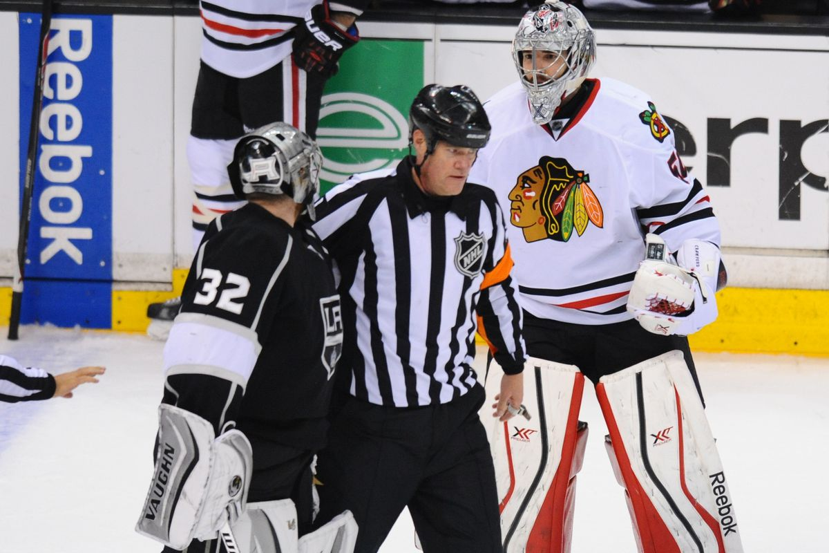NHL: MAY 30 Stanley Cup Playoffs - Western Conference Final - Blackhawks at Kings - Game 6