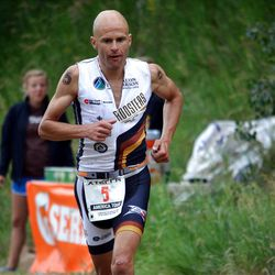 David Henestrosa runs his way to a fourth place finish at the XTERRA  Mountain Championship at Beaver Creek Resort in Avon, CO in July.