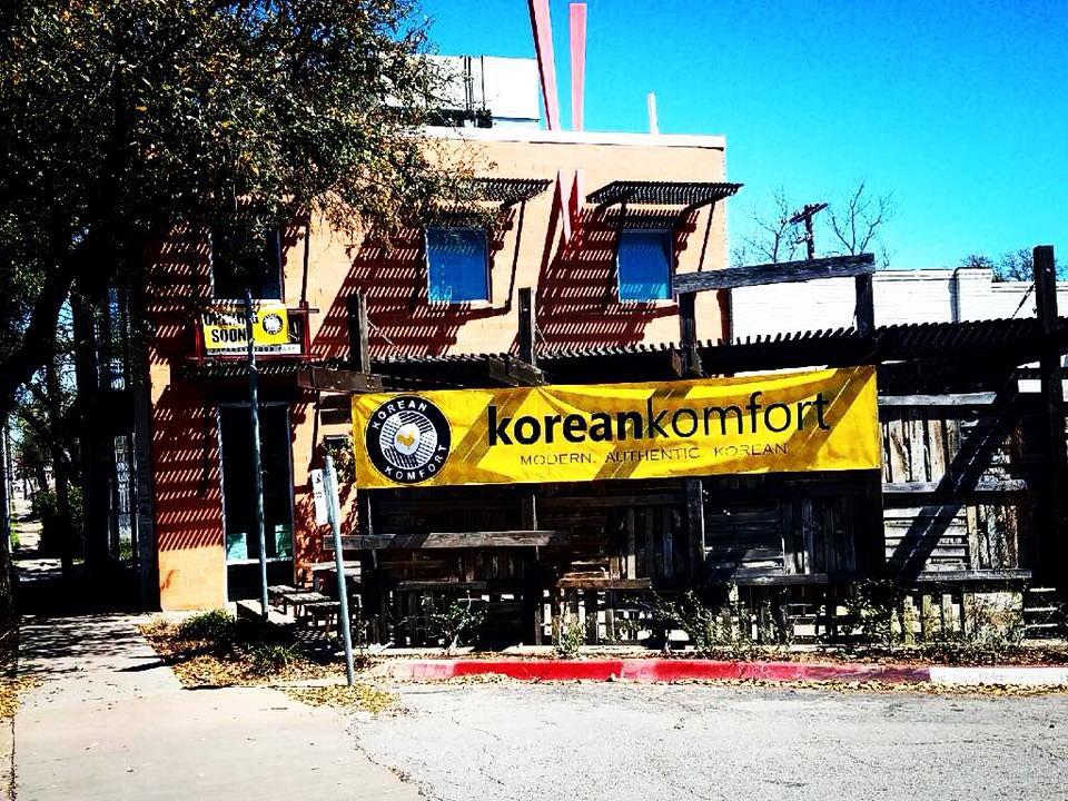 Korean Komfort's new home on Guadalupe