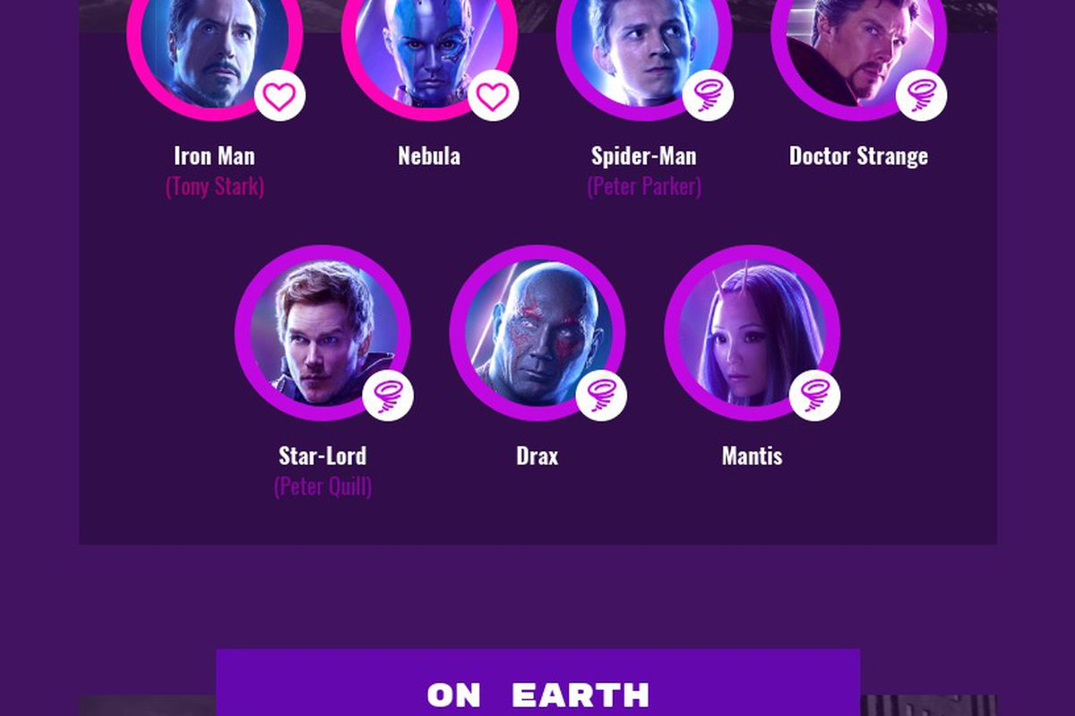 This graphic shows who was killed or dusted in which MCU locations, and where we left the other Avengers characters.