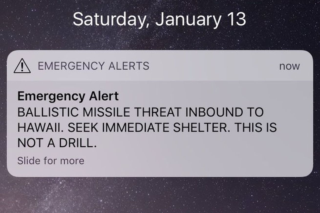 hawaii residents received false emergency alert about an incoming missile