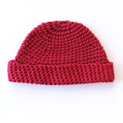 """SF-made Marin cap, <a href=""""http://store.mollusksurfshop.com/collections/mens/products/marin-red"""">$50</a> at Mollusk Surf Shop; somehow macho and adorable at the same time"""