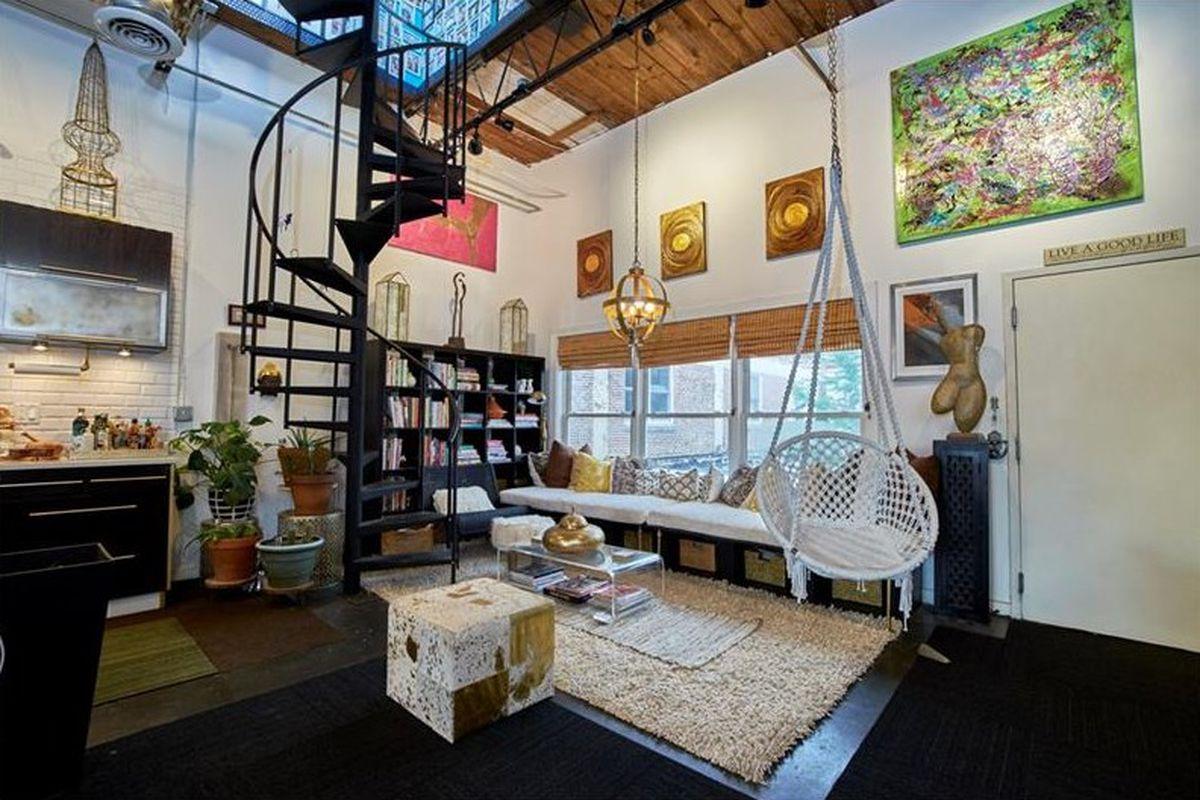 swingin castleberry hill loft with rooftop oasis desires 479k curbed atlanta