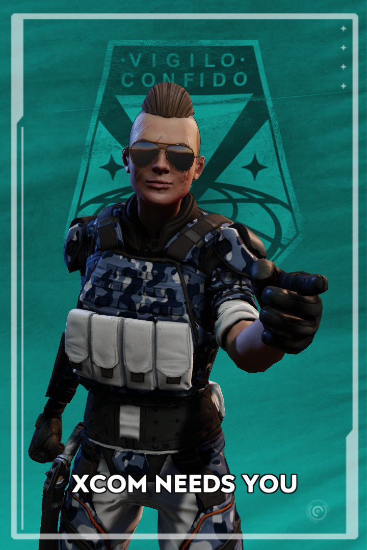 XCOM 2: War of the Chosen - photo of your soldier turned into a recruitment poster