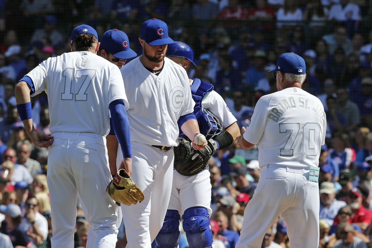 Cubs' Jon Lester tired of 'sucking' after 9-3 defeat against the soaring Nationals
