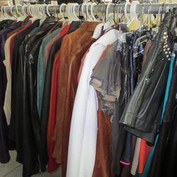 Leather: jackets, skirts, dresses, shorts