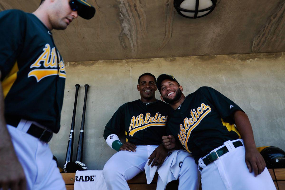 "Jordan Norberto is probably thinking, ""Hey, that's Yoenis."""