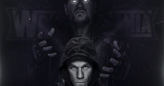 نتيجة بحث الصور عن wrestlemania 34 undertaker vs john cena