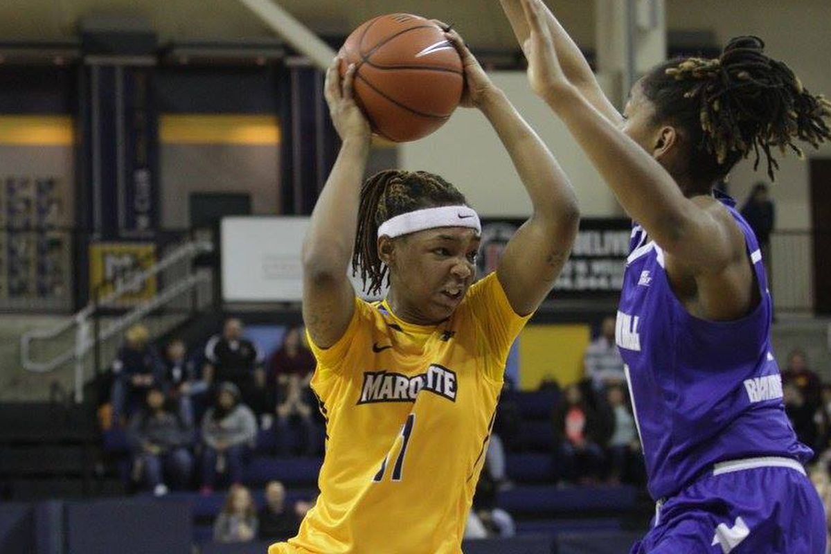 Allazia Blockton is the first Golden Eagle to ever be named Big East Freshman of the Year.