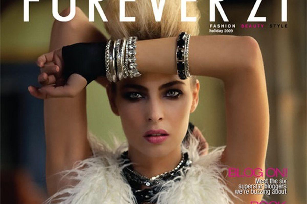 "Is it a magazine or a glorified lookbook? Image via <a href=""http://www.nitrolicious.com/blog/2009/11/13/forever-21-to-launch-fashion-beauty-lifestyle-magazine/"">Nitrolicious</a>."
