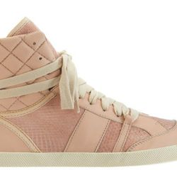 """<b>Chloe</b> Snakeskin Combo High Top, <a href=""""http://www.barneys.com/Chlo%C3%A9-Snakeskin-Combo-High-Top/502426993,default,pd.html?cgid=womens-flats-sneakers&index=0"""">$695</a> at Barneys New York"""