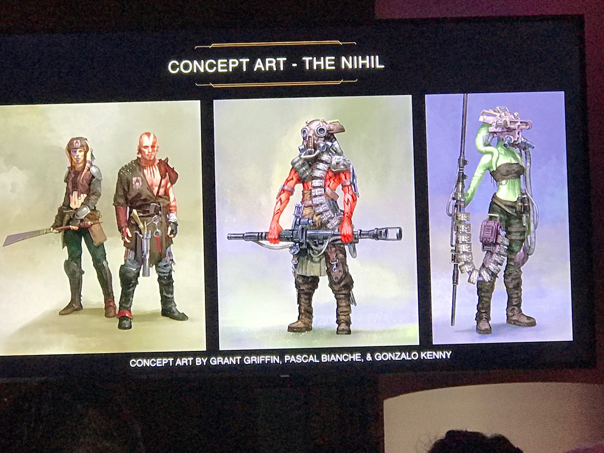 Star Wars: The High Republic concept art by Grant Griffin, Pascal Bianche, and Gonzalo Kenny of the Nihil