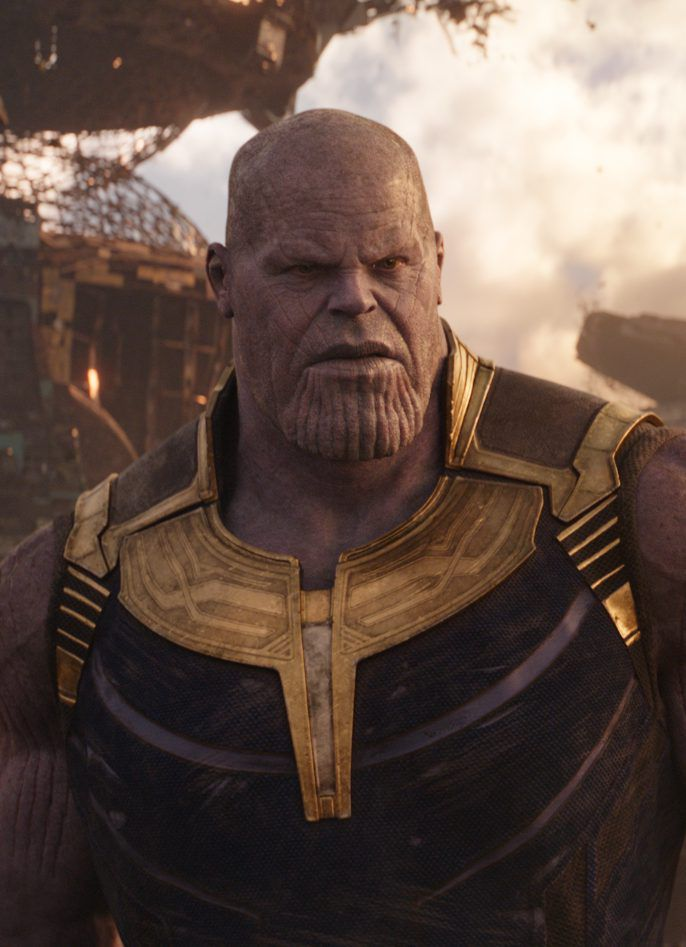 "Josh Brolin as Thanos in ""Avengers: Infinity War."" | ©Marvel Studios 2018"