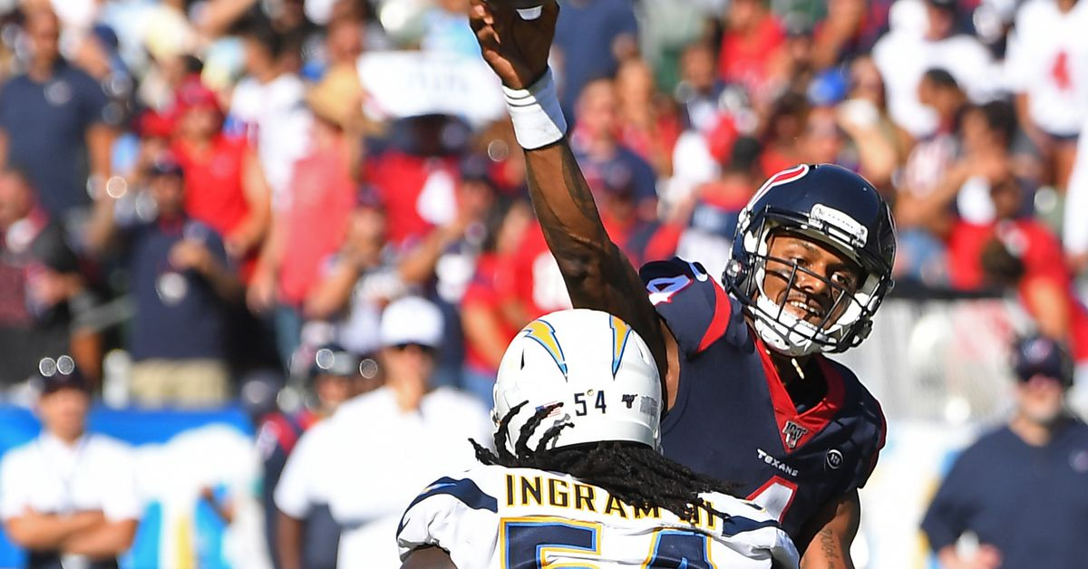 Incompletions: Texans-Chargers (The Chargers Are From Jupiter)