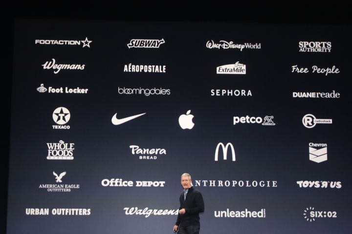 Some of the high-profile brands that work with Apple Pay.