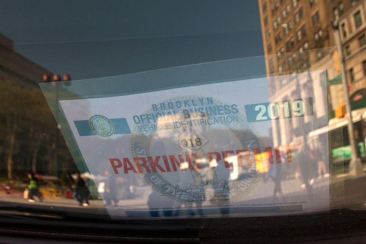 Brooklyn Borough Hall parking spots.