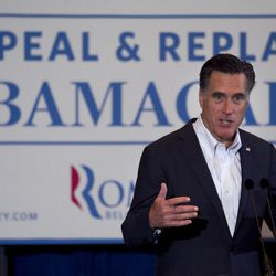 Republican presidential candidate, former Massachusetts Gov. Mitt Romney, campaigns in Metairie, La., Friday, March 23, 2012.