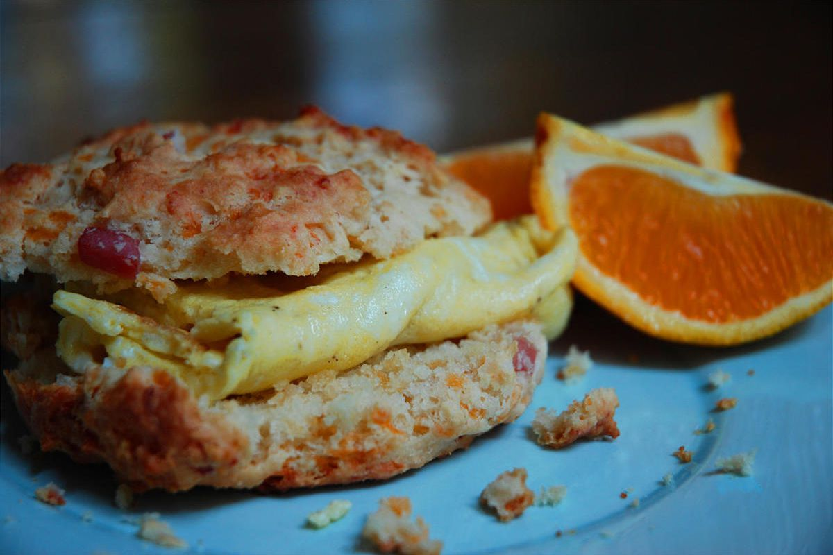 You won't miss the calories with these delicious — but nutritionally sound — breakfast biscuits.