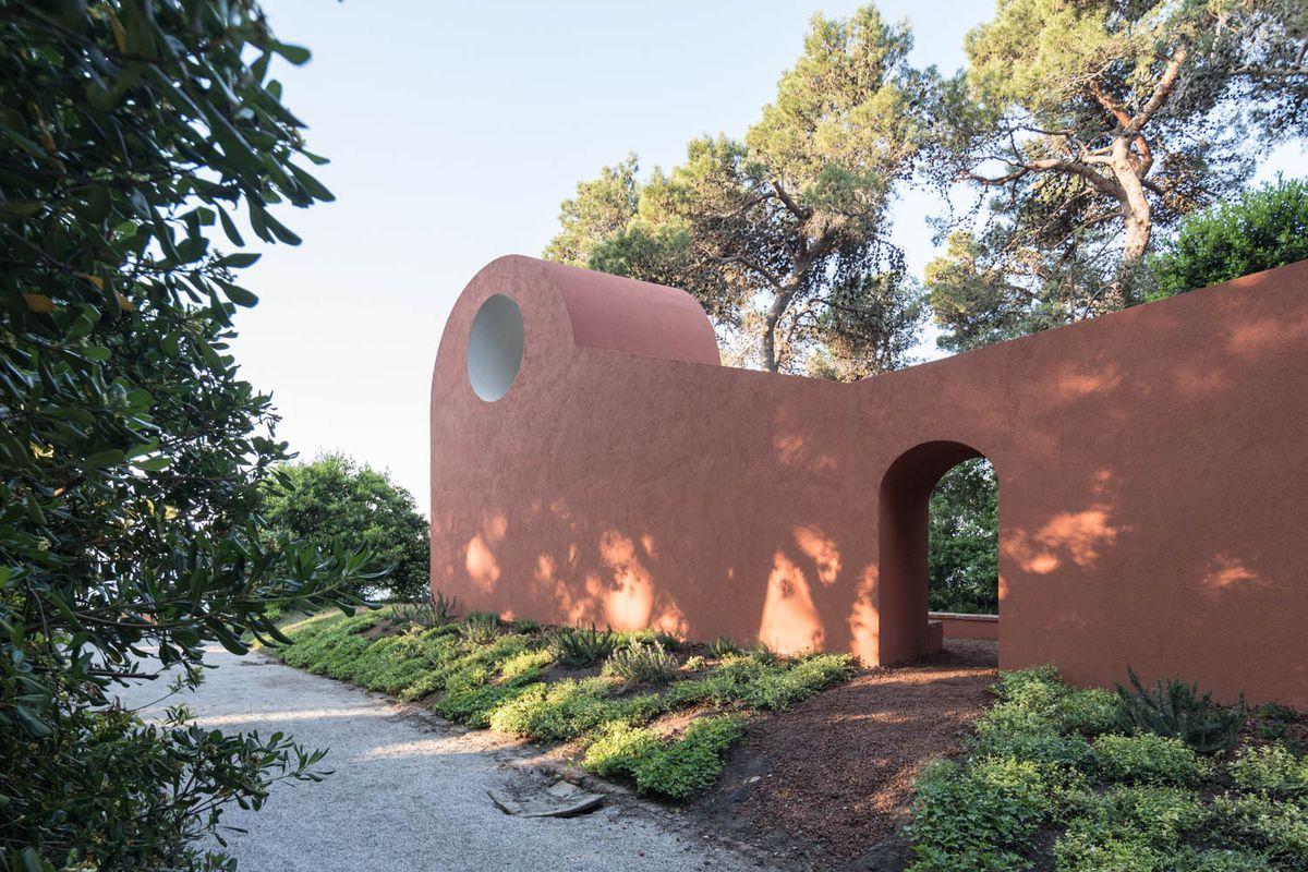 Terra cotta colored chapel
