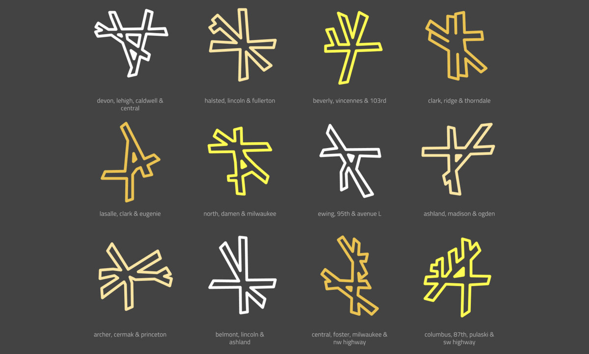 Chicagos Worst Intersections Turned Into Minimalist Map Art