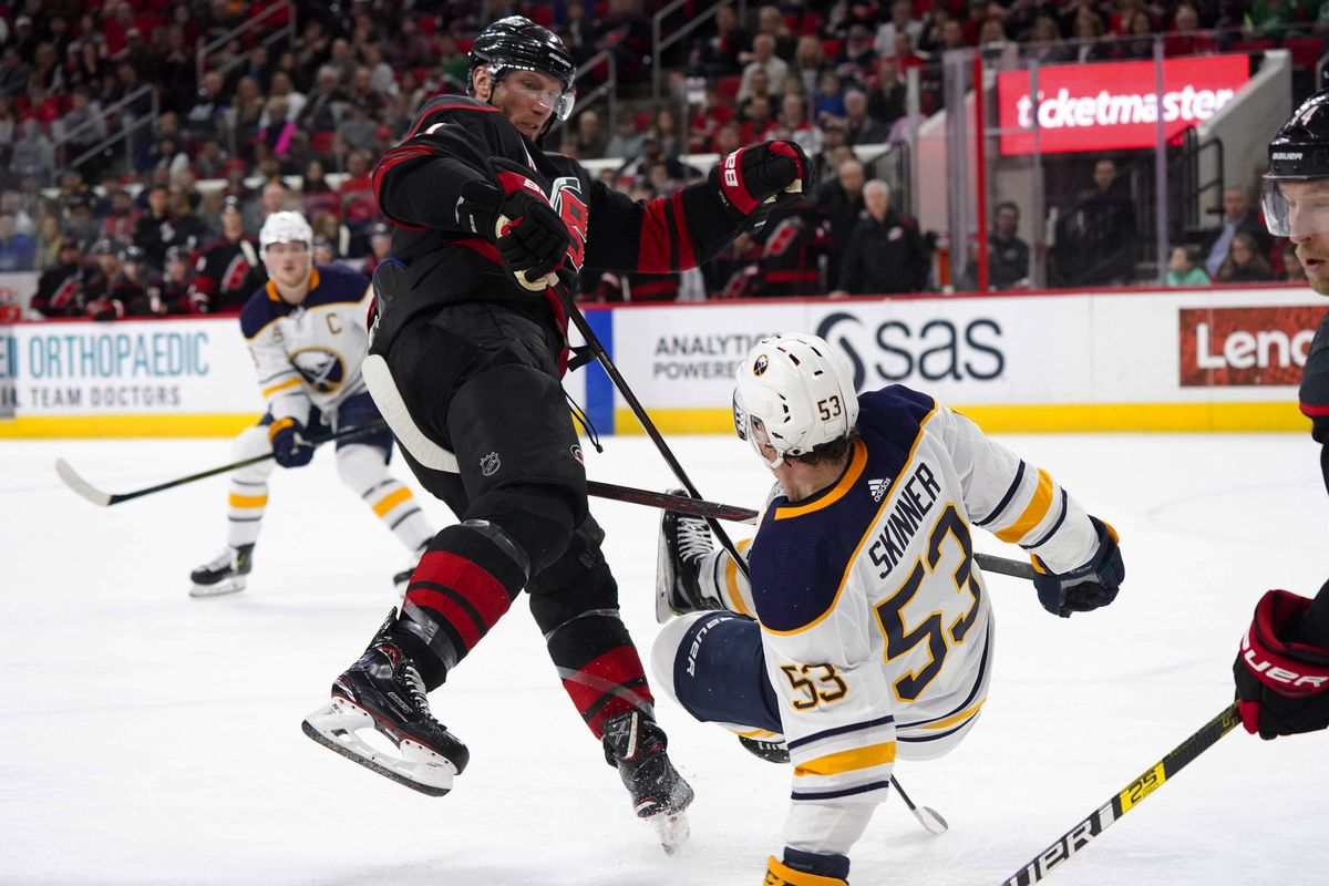 c306be338 Jordan Staal gets 500th point in Hurricanes' big win over Sabres ...